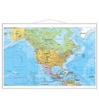 Amerika Stiefel Wandkarte Großformat Nord- und Mittelamerika politisch Stiefel GmbH
