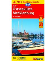 Radkarten ADFC-Radtourenkarte 3, Ostseeküste, Mecklenburg 1:150.000 Bielefelder Verlagsanstalt GmbH & Co KG