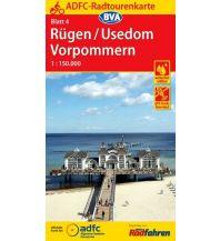 Radkarten ADFC-Radtourenkarte 4, Rügen, Usedom, Vorpommern 1:150.000 Bielefelder Verlagsanstalt GmbH & Co KG