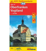 Radkarten ADFC-Radtourenkarte 18, Oberfranken, Vogtland 1:150.000 Bielefelder Verlagsanstalt GmbH & Co KG