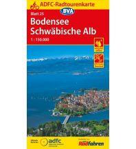 Radkarten ADFC-Radtourenkarte 25, Bodensee, Schwäbische Alb 1:150.000 Bielefelder Verlagsanstalt GmbH & Co KG