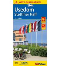 Radkarten ADFC-Regionalkarte Usedom, Stettiner Haff 1:75.000 Bielefelder Verlagsanstalt GmbH & Co KG