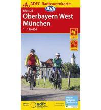 Radkarten ADFC-Radtourenkarte 26, Oberbayern West, München 1:150.000 Bielefelder Verlagsanstalt GmbH & Co KG