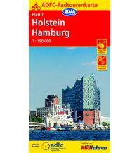 Radkarten ADFC-Radtourenkarte 2, Holstein, Hamburg 1:150.000 Bielefelder Verlagsanstalt GmbH & Co KG