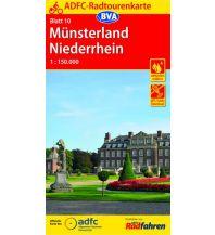 Radkarten ADFC-Radtourenkarte 10, Münsterland, Niederrhein 1:150.000 Bielefelder Verlagsanstalt GmbH & Co KG