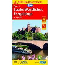 Radkarten ADFC-Radtourenkarte 13, Saale, Westliches Erzgebirge 1:150.000 Bielefelder Verlagsanstalt GmbH & Co KG