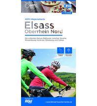 Radkarten ADFC-Regionalkarte Elsass, Oberrhein Nord, 1:75.000 Bielefelder Verlagsanstalt GmbH & Co KG