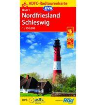 Radkarten ADFC-Radtourenkarte 1, Nordfriesland, Schleswig 1:150.000 Bielefelder Verlagsanstalt GmbH & Co KG