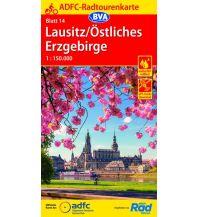 Radkarten ADFC-Radtourenkarte 14, Lausitz, Östliches Erzgebirge 1:150.000 Bielefelder Verlagsanstalt GmbH & Co KG