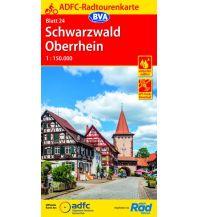 Radkarten ADFC-Radtourenkarte 24, Schwarzwald, Oberrhein 1:150.000 Bielefelder Verlagsanstalt GmbH & Co KG