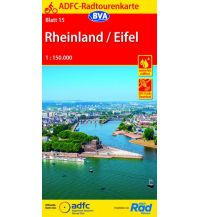 Radkarten ADFC-Radtourenkarte 15, Rheinland, Eifel 1:150.000 Bielefelder Verlagsanstalt GmbH & Co KG