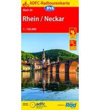 Radkarten ADFC-Radtourenkarte 20, Rhein, Neckar 1:150.000 Bielefelder Verlagsanstalt GmbH & Co KG