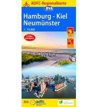 Radkarten ADFC-Regionalkarte Hamburg, Neumünster, Kiel 1:75.000 Bielefelder Verlagsanstalt GmbH & Co KG