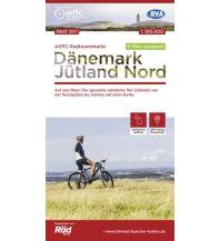 Radkarten ADFC-Radtourenkarte Dänemark DK1, Jütland Nord 1:150.000 Bielefelder Verlagsanstalt GmbH & Co KG