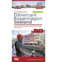 Radkarten ADFC-Radtourenkarte Dänemark DK3, Kopenhagen, Seeland 1:150.000 Bielefelder Verlagsanstalt GmbH & Co KG