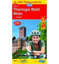 Radkarten ADFC-Radtourenkarte 17, Thüringer Wald, Rhön 1:150.000 Bielefelder Verlagsanstalt GmbH & Co KG