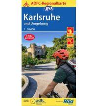 Radkarten ADFC-Regionalkarte Karlsruhe und Umgebung,1:50.000, reiß- und wetterfest, GPS-Tracks Download Bielefelder Verlagsanstalt GmbH & Co KG