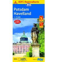 Radkarten ADFC-Regionalkarte Potsdam, Havelland 1:75.000 Bielefelder Verlagsanstalt GmbH & Co KG