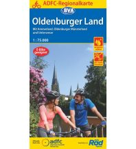 ADFC-Regionalkarte Oldenburger Land mit Tagestouren-Vorschlägen, 1:75.000, reiß- und wetterfest, GPS-Tracks Download Bielefelder Verlagsanstalt GmbH & Co KG