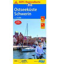 ADFC-Regionalkarte Ostseeküste, Schwerin 1:75.000 Bielefelder Verlagsanstalt GmbH & Co KG