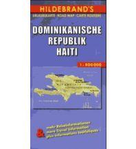Straßenkarten Dominikanische Republik, Haiti. Dominican Republic Haiti Hildebrand Kartographie