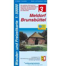 Wander- und Freizeitkarte 3, Meldorf, Brunsbüttel 1:50.000 Landesvermessungsamt Schleswig-Holstein
