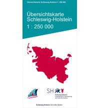 Straßenkarten Deutschland Übersichtskarte Schleswig-Holstein 1:250.000 Landesvermessungsamt Schleswig-Holstein
