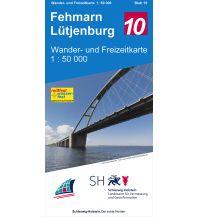 Wanderkarten Deutschland Wander- und Freizeitkarte 10, Fehmarn, Lütjenburg 1:50.000 Landesvermessungsamt Schleswig-Holstein