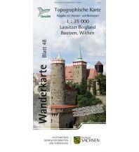 Topographische Karte Sachsen 48, Lausitzer Bergland, Bautzen, Wilthen 1:25.000 Landesamtvermessungsamt Sachsen