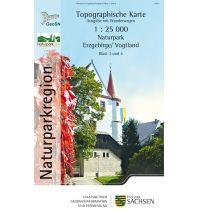 3/4 Topographische Karte Sachsen - Naturpark Erzgebirge / Vogtland 1:25.000 Landesamtvermessungsamt Sachsen