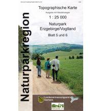 5/6 Topographische Karte Sachsen - Naturpark Erzgebirge / Vogtland 1:25.000 Landesamtvermessungsamt Sachsen