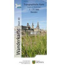 Topographische Karte Sachsen 40 - Dresden 1:25.000 Landesamtvermessungsamt Sachsen
