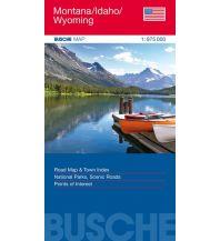 Straßenkarten Montana/Idaho/Wyoming Busche Kartographie