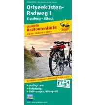 f&b Wanderkarten Ostseeküsten-Radweg 1 1:50.000 Freytag-Berndt und ARTARIA