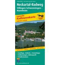 f&b Wanderkarten Neckartal-Radweg, Villingen-Schwenningen - Mannheim Freytag-Berndt und ARTARIA
