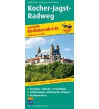 f&b Wanderkarten Kocher-Jagst-Radweg Freytag-Berndt und ARTARIA