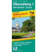 f&b Wanderkarten Elberadweg 1 1:50.000 Freytag-Berndt und ARTARIA