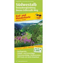 f&b Wanderkarten Südwestalb, Donauberglandweg, Donau-Zollernalb-Weg Freytag-Berndt und ARTARIA