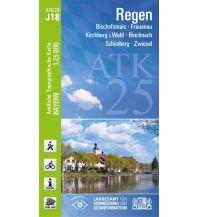 Wanderkarten Bayern Bayerische ATK25-J18, Regen 1:25000 Bayerisches Landesamt für Digitalisierung, Breitband und Vermessung