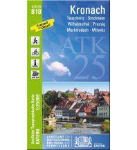Wanderkarten Bayern Bayerische ATK25-B10, Kronach 1:25.000 Bayerisches Landesamt für Digitalisierung, Breitband und Vermessung