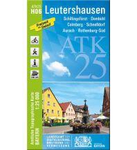 Wanderkarten Bayern Bayerische ATK25-H06, Leutershausen 1:25.000 Bayerisches Landesamt für Digitalisierung, Breitband und Vermessung
