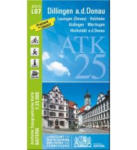 Wanderkarten Schwarzwald - Schwäbische Alb Bayerische ATK25-L07, Dillingen an der Donau 1:25.000 Bayerisches Landesamt für Digitalisierung, Breitband und Vermessung