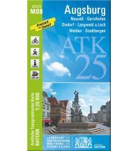 Wanderkarten Bayern Bayerische ATK25-M08, Augsburg 1:25.000 Bayerisches Landesamt für Digitalisierung, Breitband und Vermessung