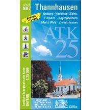 Wanderkarten Bayern Bayerische ATK25-N07, Thannhausen 1:25.000 Bayerisches Landesamt für Digitalisierung, Breitband und Vermessung