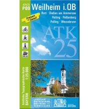 Wanderkarten Bayern Bayerische ATK25-P09, Weilheim i.OB 1:25.000 Bayerisches Landesamt für Digitalisierung, Breitband und Vermessung
