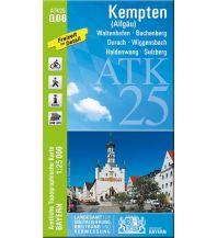 Wanderkarten Bayern Bayerische ATK25-Q06, Kempten (Allgäu) 1:25.000 Bayerisches Landesamt für Digitalisierung, Breitband und Vermessung