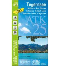 Wanderkarten Bayern Bayerische ATK25-Q12, Tegernsee 1:25.000 Bayerisches Landesamt für Digitalisierung, Breitband und Vermessung