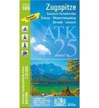 Wanderkarten Tirol Bayerische ATK25-S09, Zugspitze 1:25.000 Bayerisches Landesamt für Digitalisierung, Breitband und Vermessung