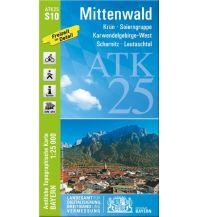 Wanderkarten Tirol Bayerische ATK25-S10, Mittenwald 1:25.000 Bayerisches Landesamt für Digitalisierung, Breitband und Vermessung