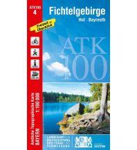 Wanderkarten Bayern Bayerische ATK100-4, Fichtelgebirge 1:100.000 Bayerisches Landesamt für Digitalisierung, Breitband und Vermessung
